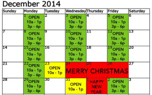 Precision 2014 holiday hours